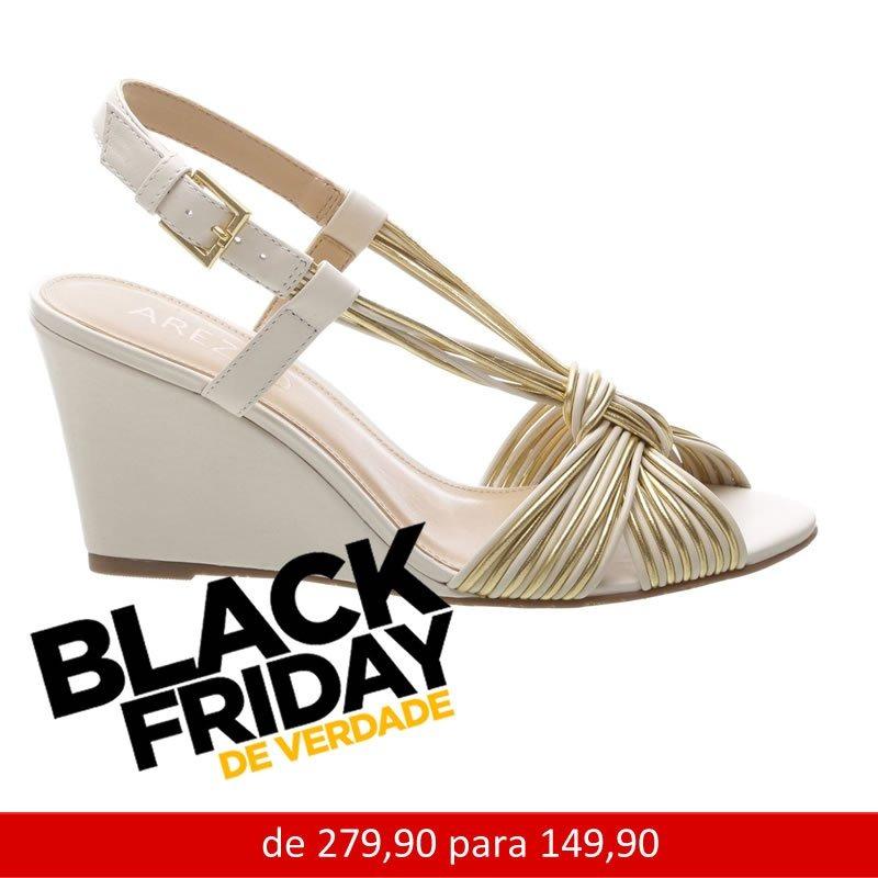 edf1464c8 Sandalia Anabela Arezzo Salto Medio Plataforma Black Friday - R$ 149 ...