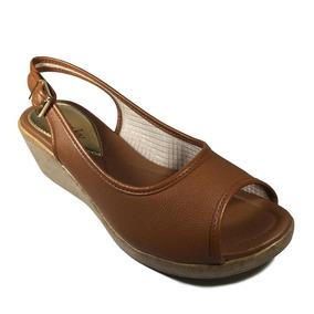 9a970d5dce Levissima Sandalia 38 Salto Anabela Feminino Azaleia - Sapatos no ...