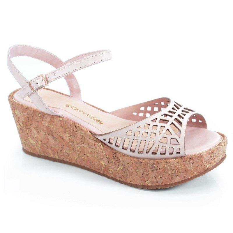 775b27b168 sandália anabela baixa bottero couro tanino nude - 259321. Carregando zoom.