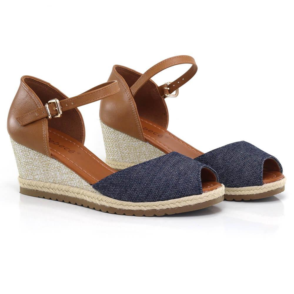291ef6036 sandália anabela bebecê com salto em corda - vanda calçados. Carregando  zoom.