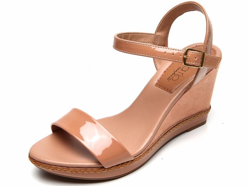 ac8cb9c23 sandália anabela beira rio conforto bege nude frete grátis. Carregando zoom.