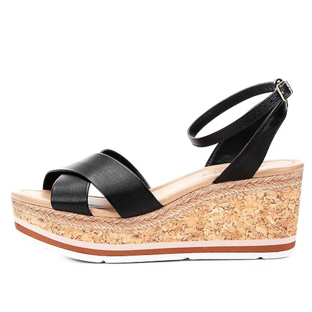 77b3a70c8a sandália anabela beira rio feminina preta 009236. Carregando zoom.