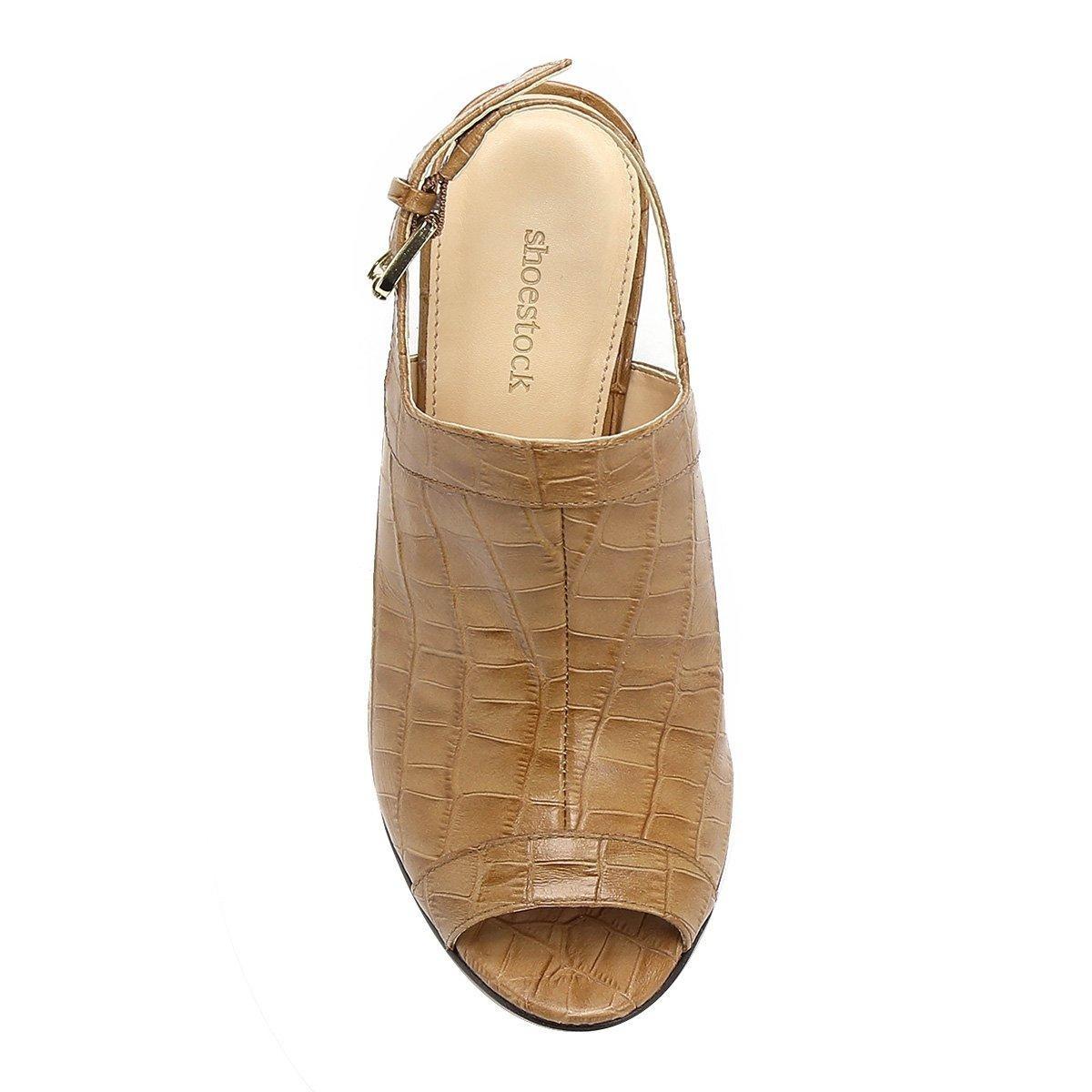 60fc8d04a5 sandália anabela couro shoestock abotinada feminina. Carregando zoom.