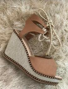 9633e4a13 Sandalia Anabela Amarrar Perna - Sapatos para Feminino com o Melhores  Preços no Mercado Livre Brasil