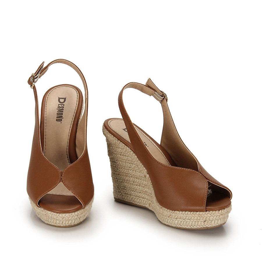 e56ae75727 sandália anabela espadrille desmond corda- caramelo. Carregando zoom.