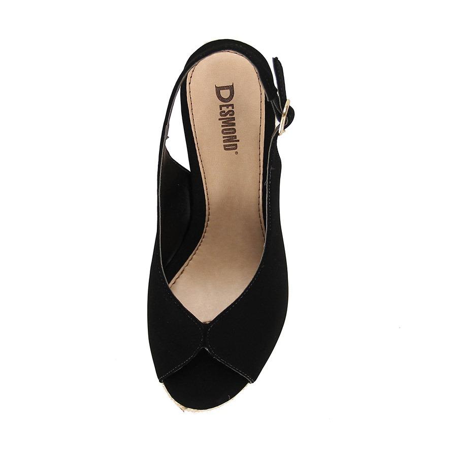 55fe3eaa9d sandália anabela espadrille desmond corda - preto. Carregando zoom.