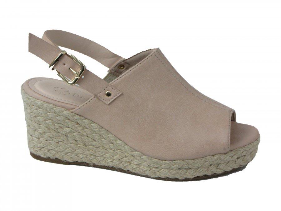 d9cc3f70a sandália anabela espadrille feminina 5017-321 bebecê - nude/. Carregando  zoom.