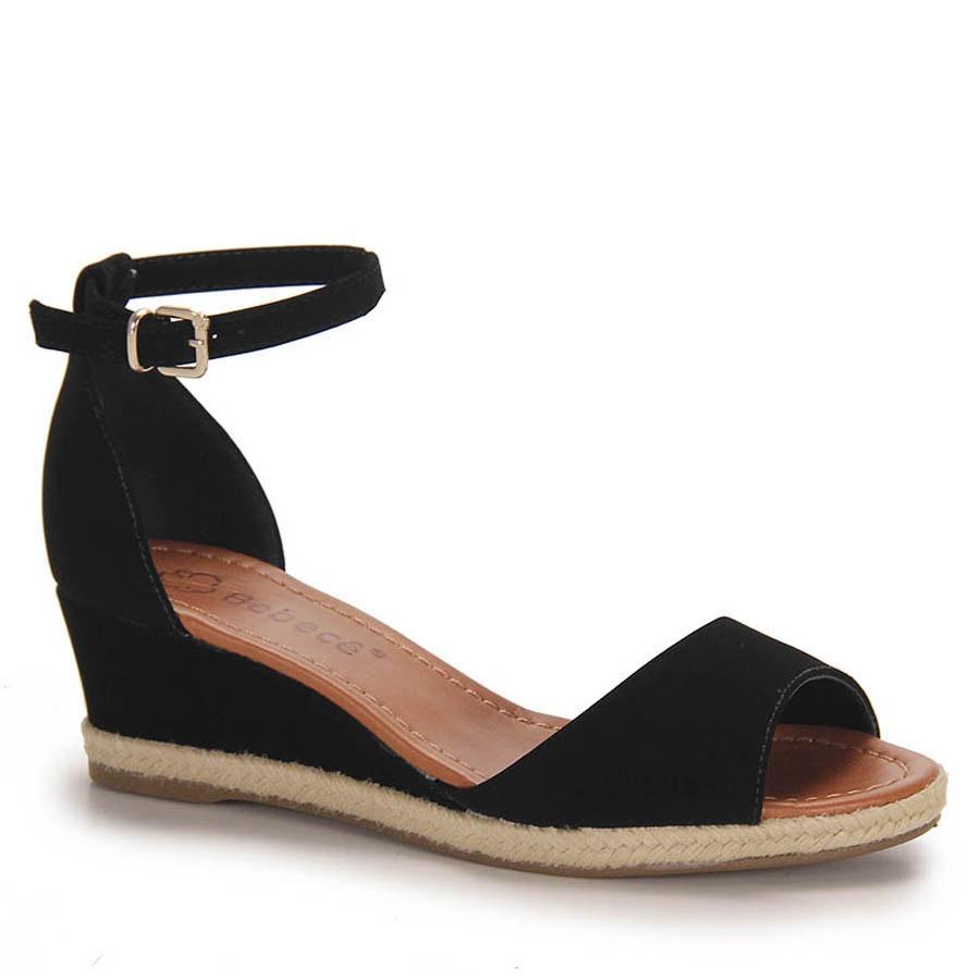 a0bdf3267 sandália anabela espadrille feminina bebecê - preto. Carregando zoom.