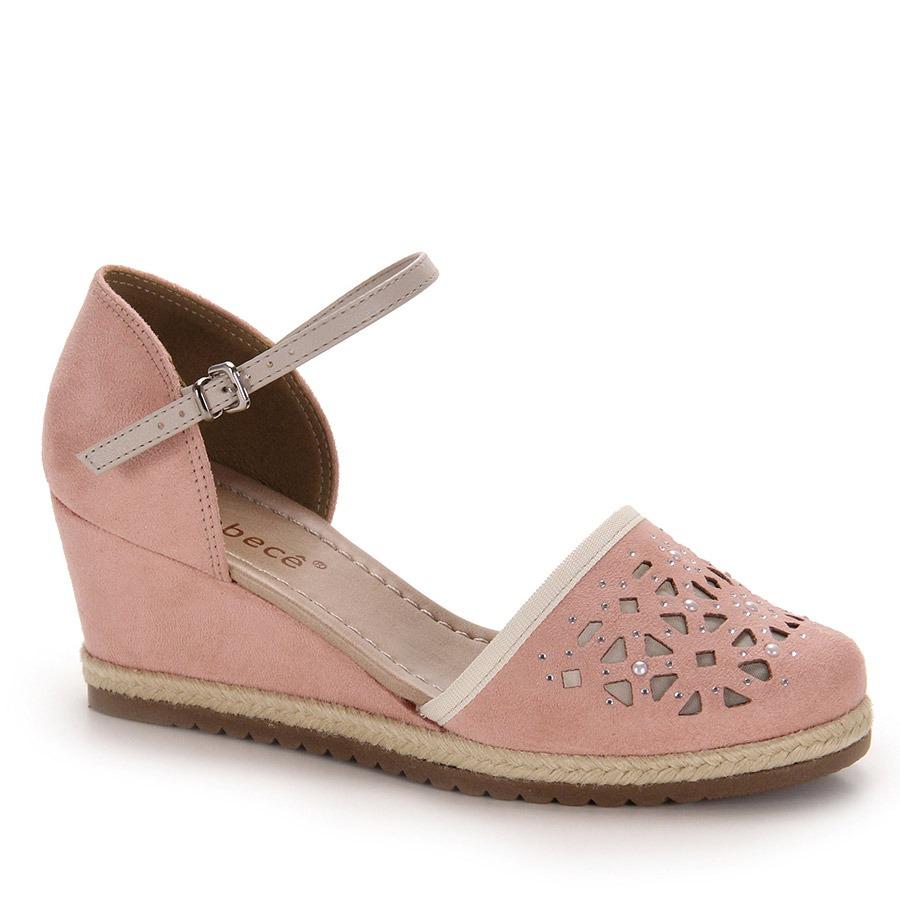 e9f6b541c sandália anabela espadrille feminina bebecê - rosa. Carregando zoom.