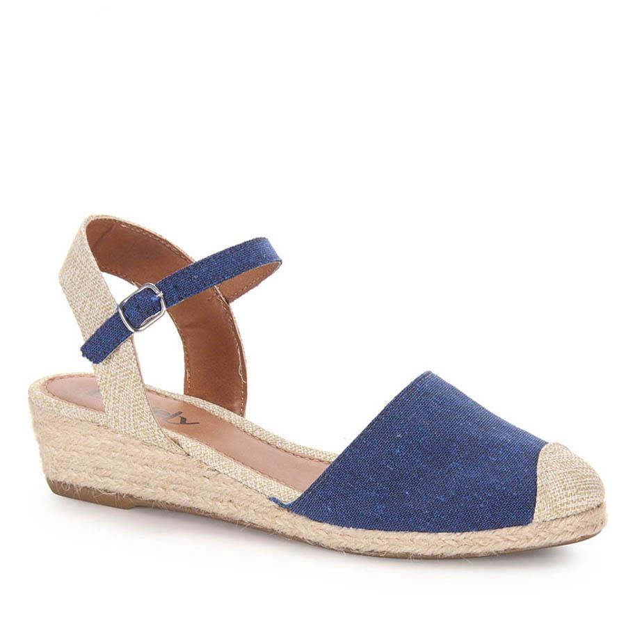 1899056afd2 sandália anabela espadrille feminina dariely - jeans. Carregando zoom.