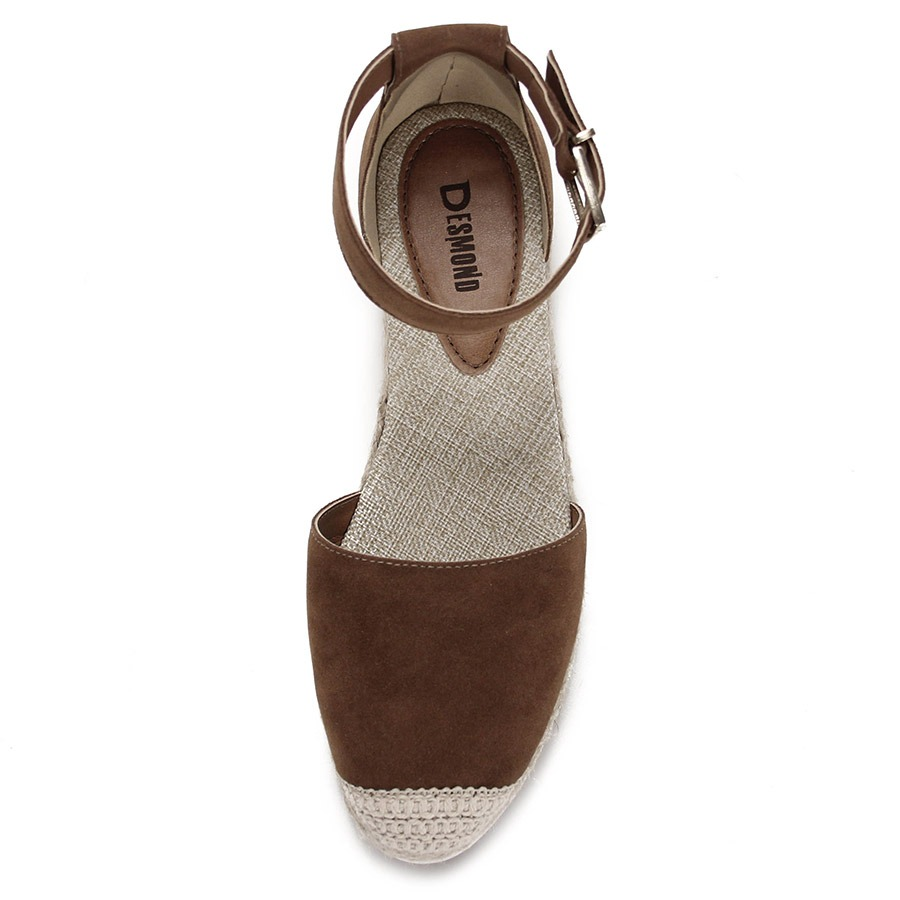 7f940d64c7 sandália anabela espadrille feminina desmond - caramelo. Carregando zoom.