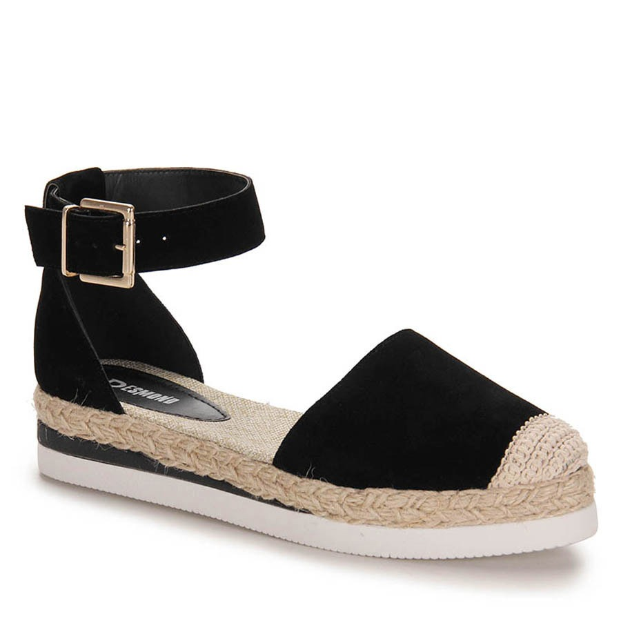 30e3bc9473 sandália anabela espadrille feminina desmond - preto. Carregando zoom.