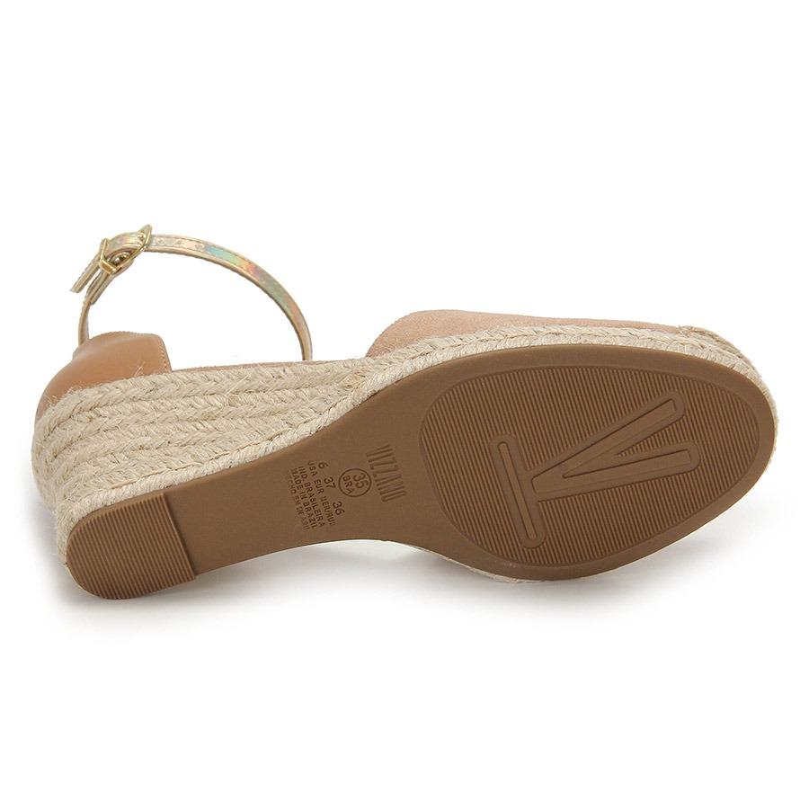 e44a11381d sandália anabela espadrille feminina vizzano - nude. Carregando zoom.
