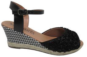 6125cb6466 Sapato Imita Valentino Feminino Anabela - Calçados