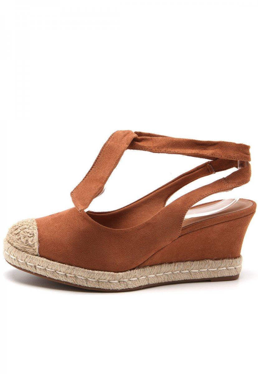 93b7bde414 sandália anabela espadrille vizzano amarrar no tornozelo. Carregando zoom.