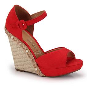 27ab37355 Sandalia Vizzano Anabela Vermelha - Sapatos com o Melhores Preços no ...