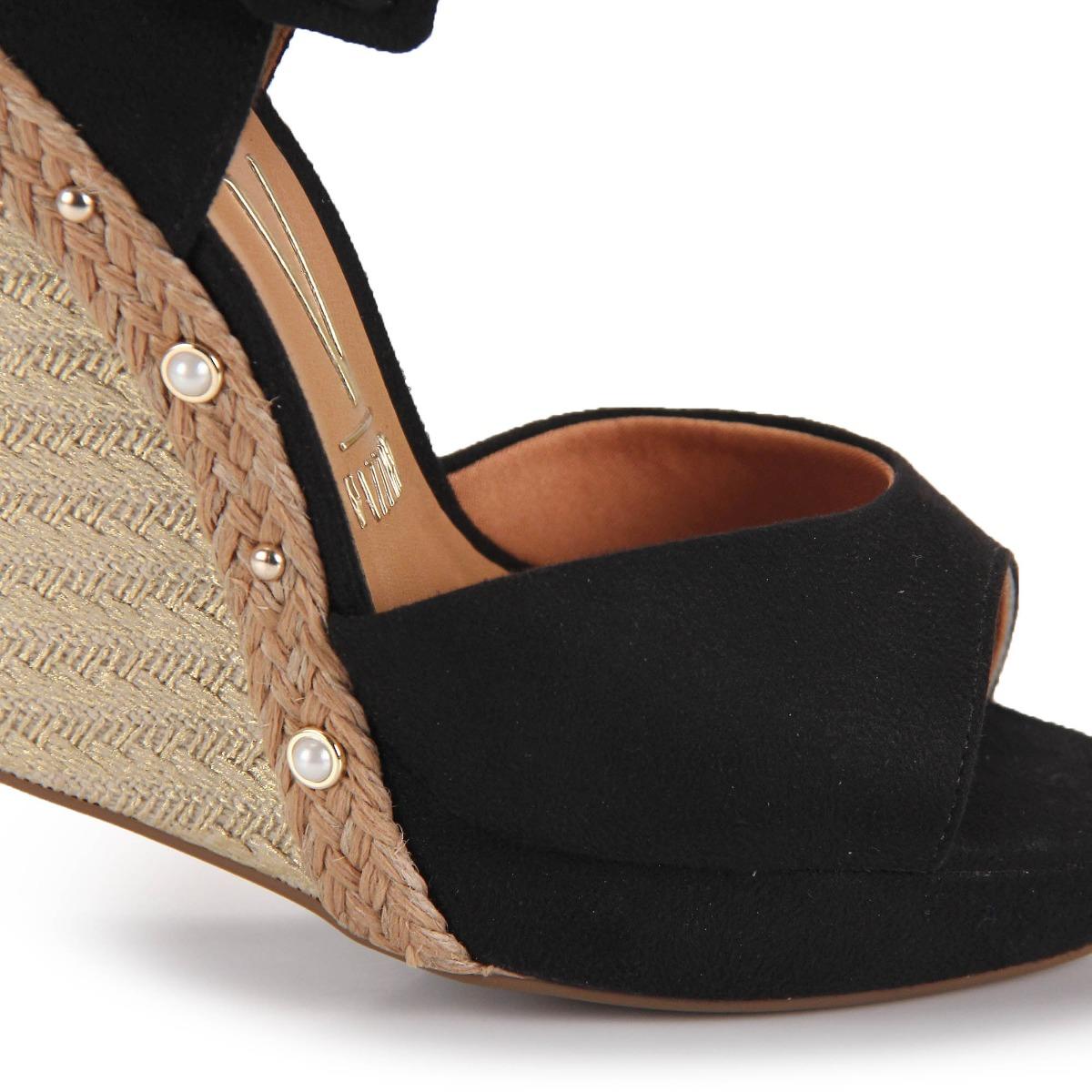 924431e2c sandália anabela espadrille vizzano pérola - preto. Carregando zoom.