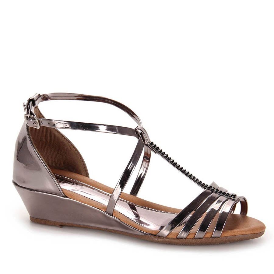 f66c8ecc47b sandália anabela feminina dariely - prata velho. Carregando zoom.