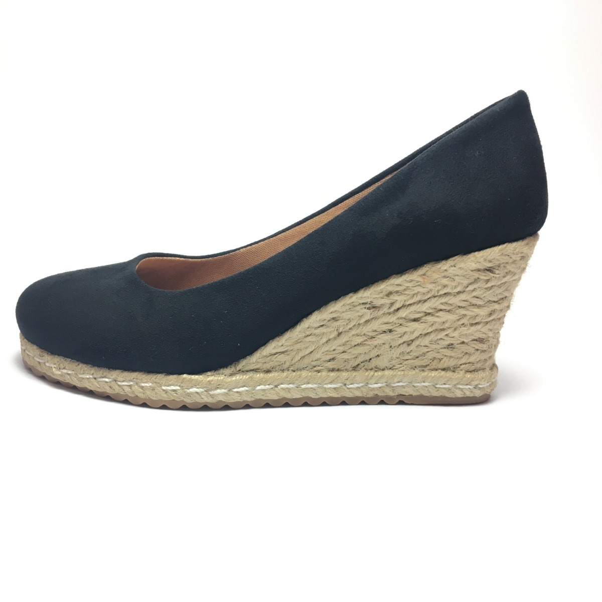 36e2a6f0db sandália anabela feminina espadrille s  médio alto 7 cm azul. Carregando  zoom.