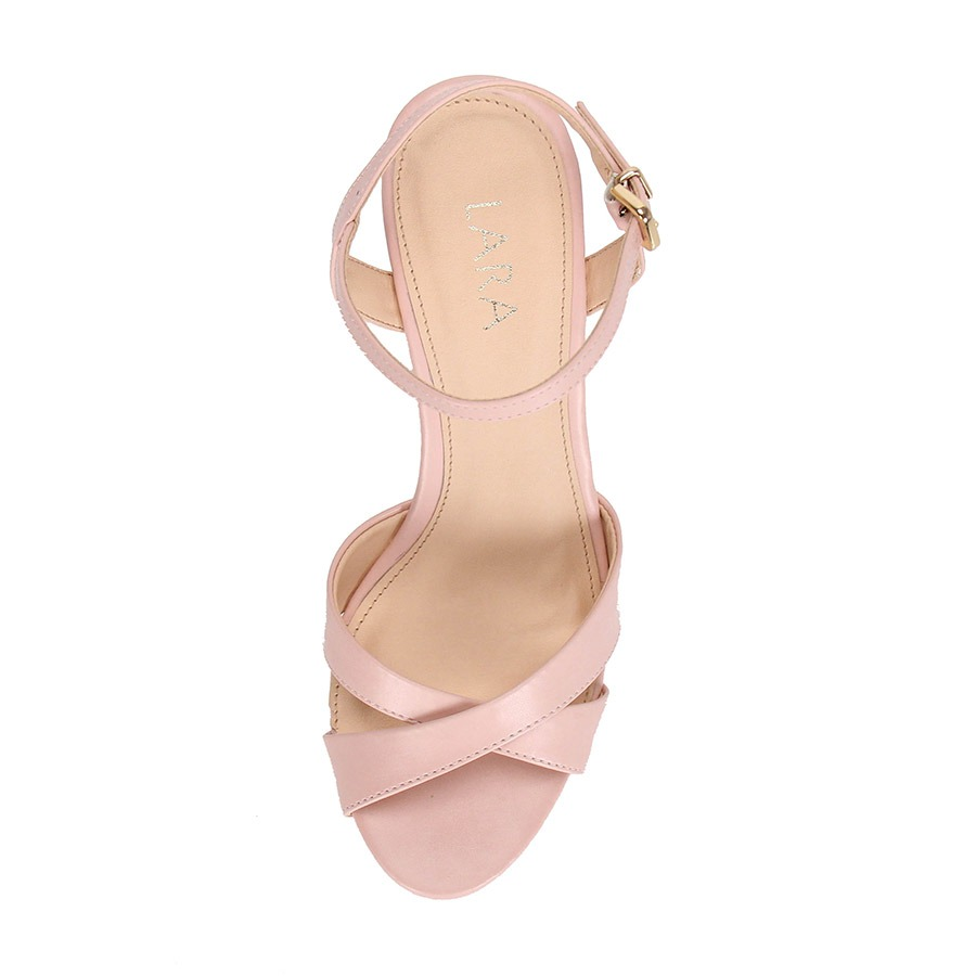 f43895aea1 sandália anabela feminina lara - rosa. Carregando zoom.