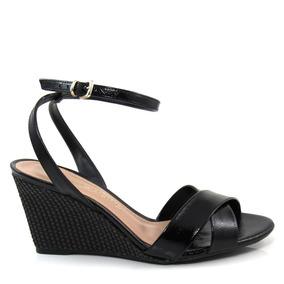 de62d6c36 Sandalia Anabela De Corda Mariotta Feminino - Sapatos para Feminino Preto  no Mercado Livre Brasil