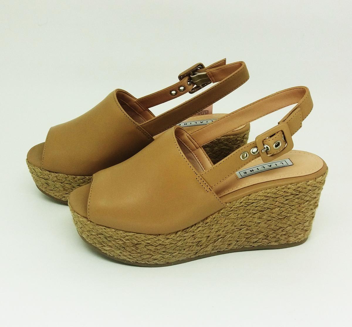 4f8c979f99 sandália anabela feminina tamanco bege lialine 9010. Carregando zoom.