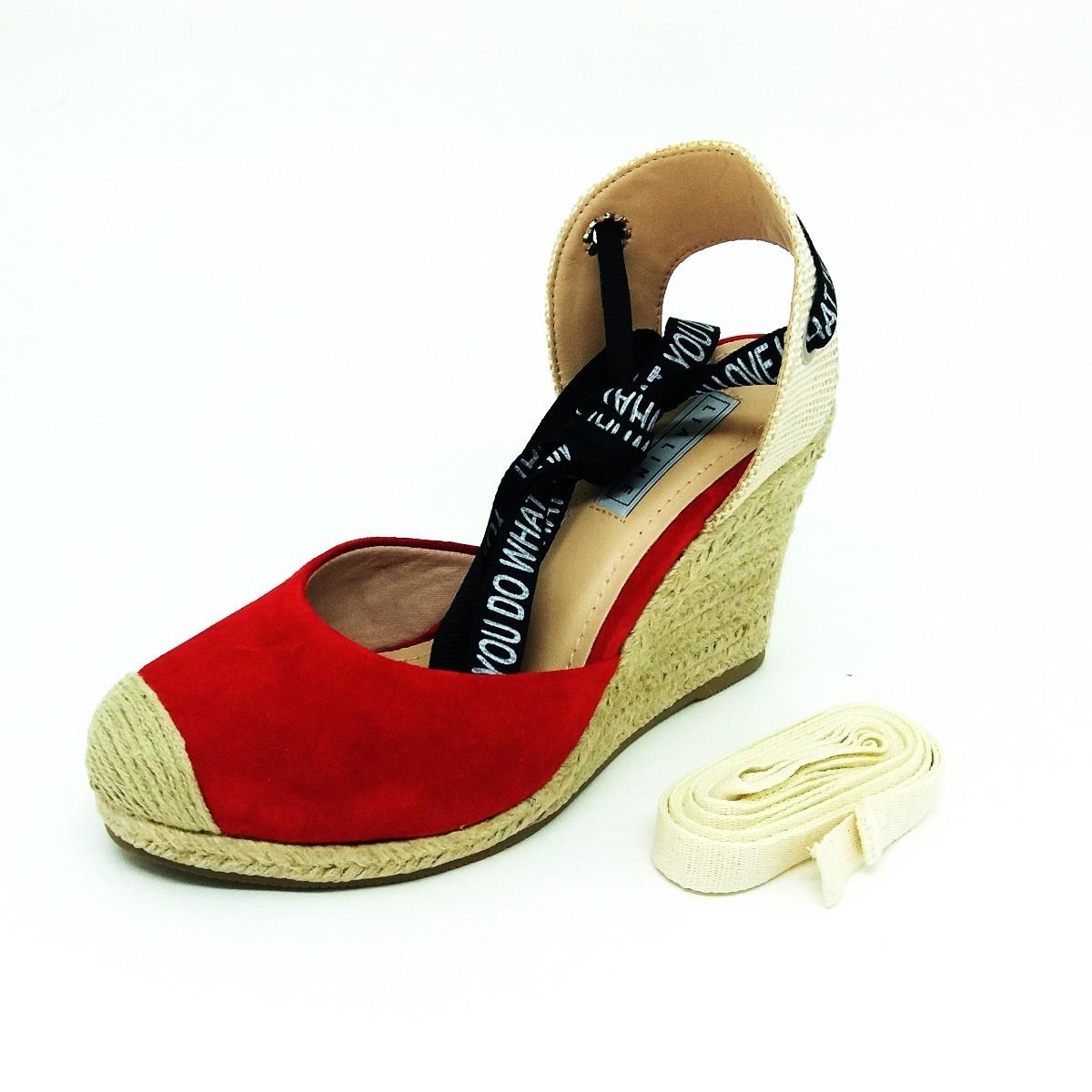 122a2fc8b sandália anabela feminina tamanco vermelho lialine por li&ca. Carregando  zoom.