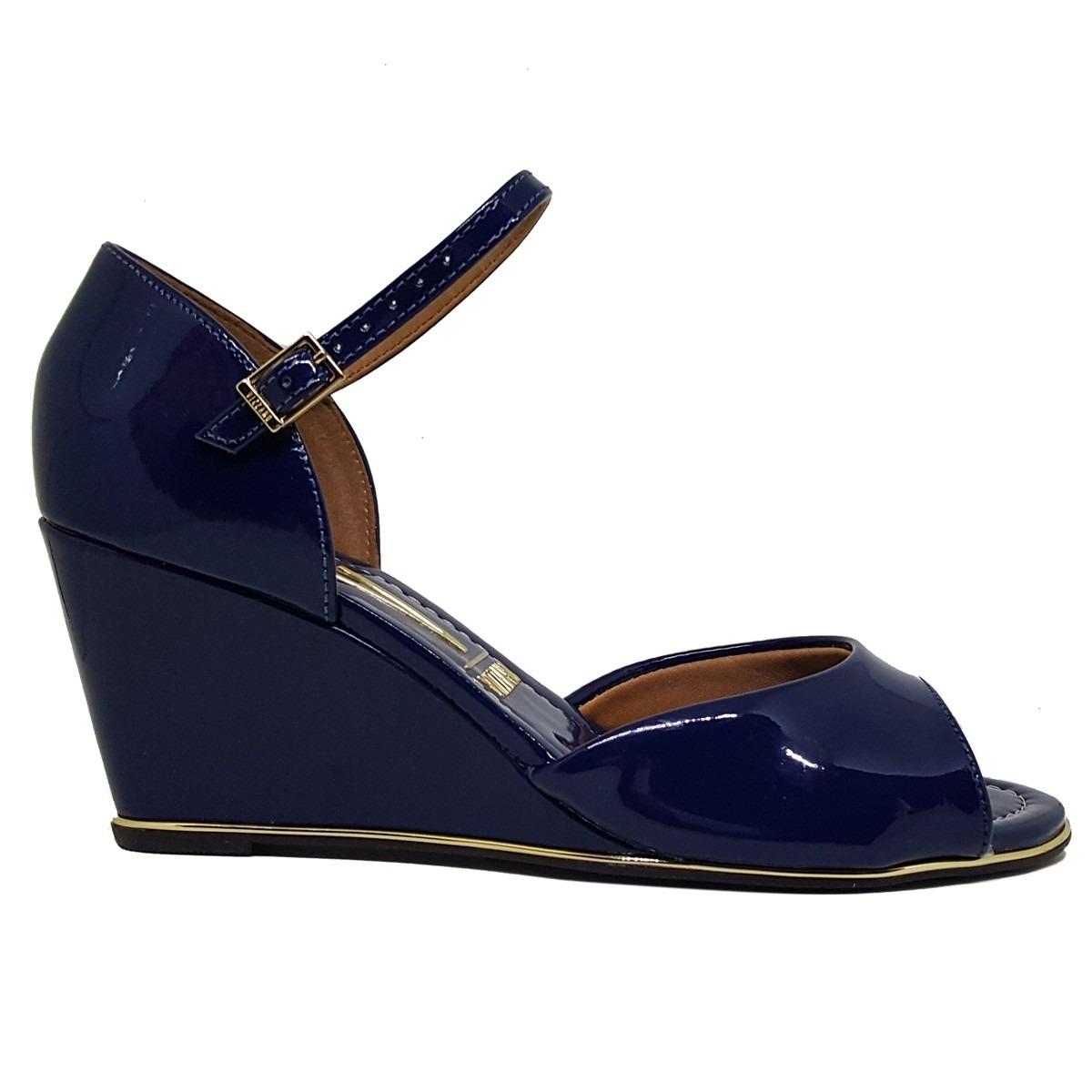 0cc41c6d61 sandália anabela feminina vizzano azul marinho 6271-111. Carregando zoom.