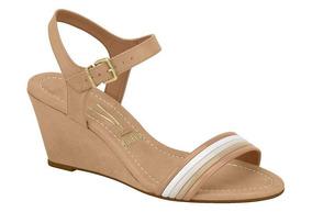 759b771878 Sandalia Anabela Vizzano Bege Feminino Sandalias - Sapatos no ...