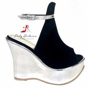 0ed45aae1b Sandalia De Salto Fechada Nos Dedos - Sapatos no Mercado Livre Brasil