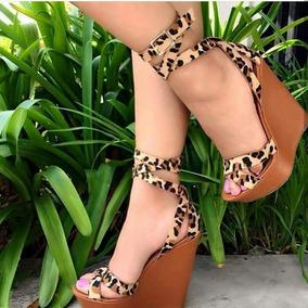 82f03a843 Sandália Gladiadora Marrom Plataforma - Sapatos no Mercado Livre Brasil