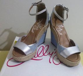 942cbb9166 Linda Sandalia Anabela Prata Velha - Sapatos no Mercado Livre Brasil