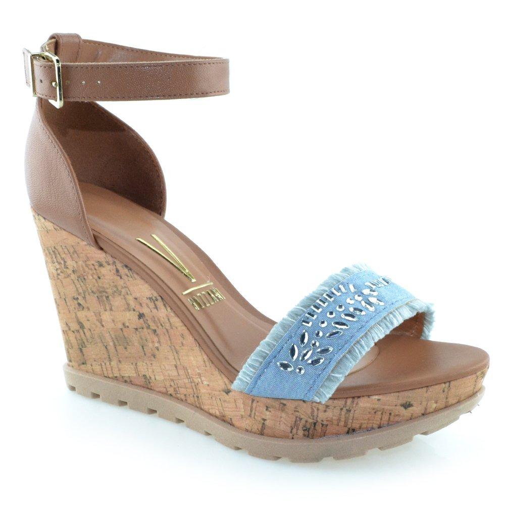 cacfd532f8 sandália anabela jeans vizzano 6353104 - cirandinha. Carregando zoom.