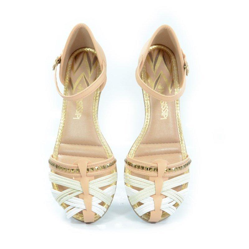 d5991272d sandália anabela mississipi nude branco off white - x6172. Carregando zoom.
