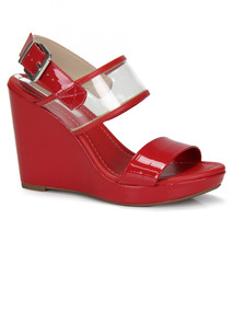 ab646aad1 Sandalia Anabela Vermelha Feminino Moleca - Sapatos no Mercado Livre ...