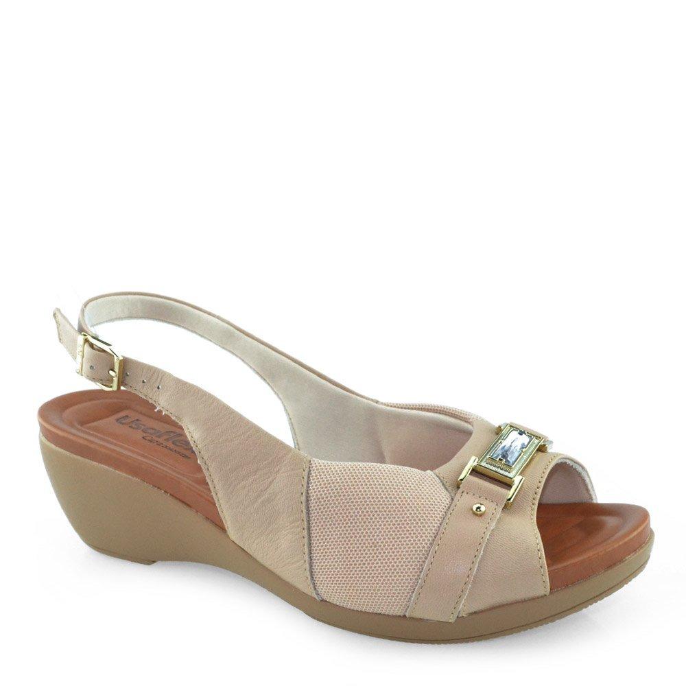 b028d31ce sandália anabela numeração especial usaflex w0304 - godiva. Carregando zoom.