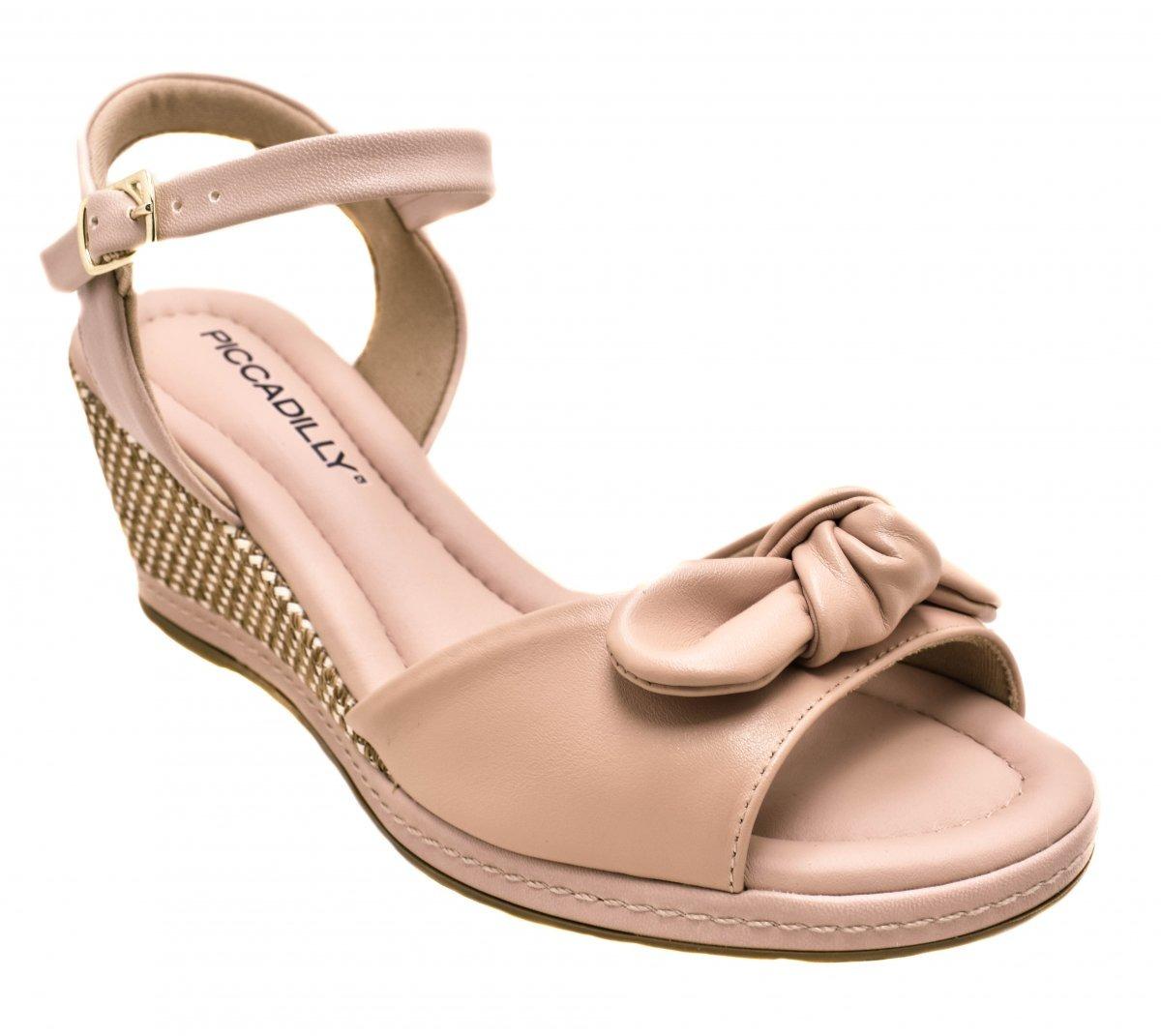 eee515078b sandália anabela piccadilly 408132 joanete - rosa e preto. Carregando zoom.