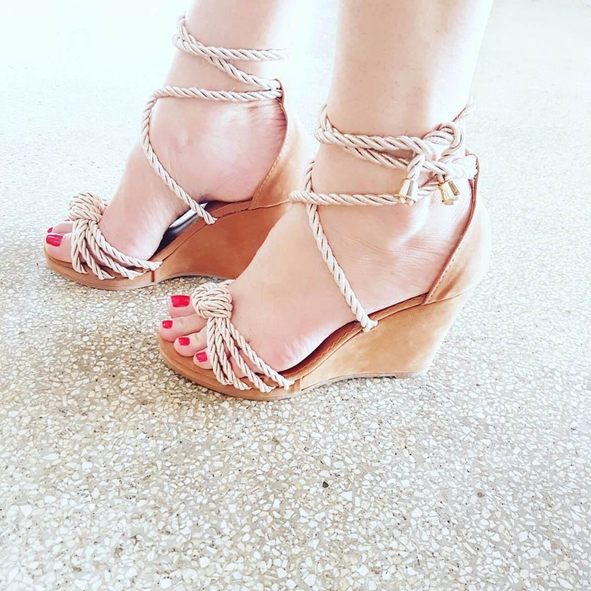 46b6c03135 sandália anabela plataforma feminino inspiração moda 319. Carregando zoom.