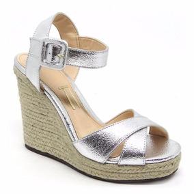 f2b40468d3 Sandalia Salto De Corda - Sapatos para Feminino Prateado no Mercado ...