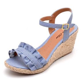 9a61722fc3 Sandalia Anabela Azul - Sandálias e Chinelos Melissa para Feminino ...