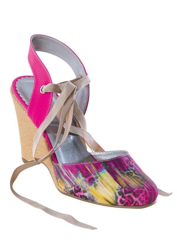 cda2180ec2 sandália anabela rosa estampa animal print frete grátis. Carregando zoom.