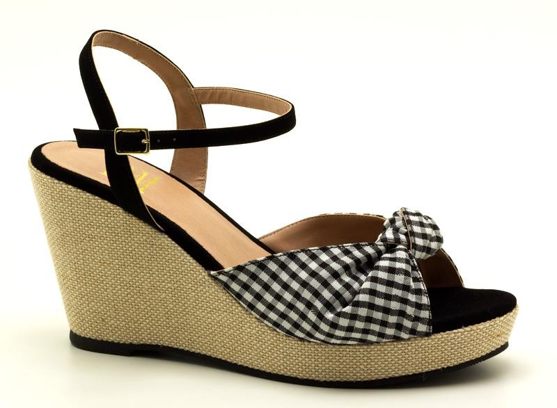 322cf1156 sandália anabela tamanho grande numeração especial 41 42. Carregando zoom.