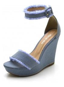 e7b5d3789 Sandalia Jeans Tamanho 39 - Sandálias e Chinelos para Feminino 39 com o  Melhores Preços no Mercado Livre Brasil