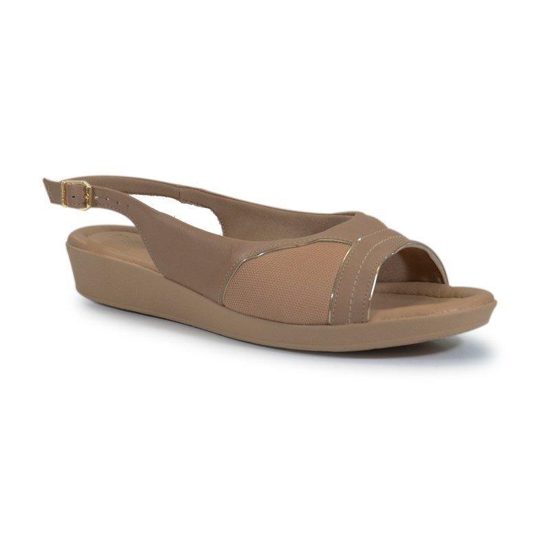 f77cc2ec6 sandália anabela usaflex numeração especial caprina nude - p. Carregando  zoom.