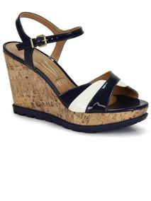 dd9f3a5dc7 Sandalia Anabela Azul Vizzano - Sapatos no Mercado Livre Brasil