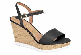 66d4a035a5 Sandalia Salto Anabela Vizzano - Feminino - Sapatos no Mercado Livre Brasil