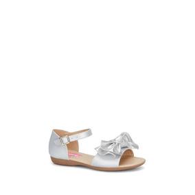 6b7a56bb Hermosas Sandalias Plateadas De Disenador - Zapatos para Niñas Gris ...