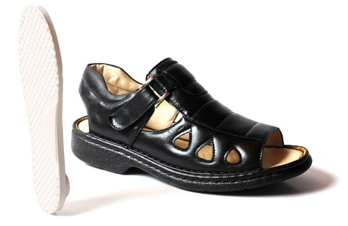 sandália anti stress masculina couro pelica marca g-mim off