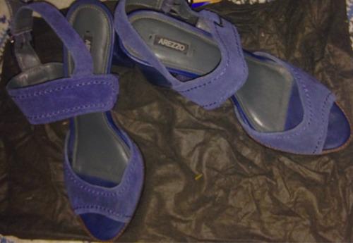 sandália arezzo, azul nova