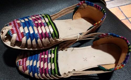 sandalia artesanal hechas en chiapas hechas en piel y textil